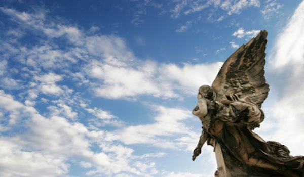 Holy Holy Holy is the Lord Almighty - Angel Looking Up Into Sky