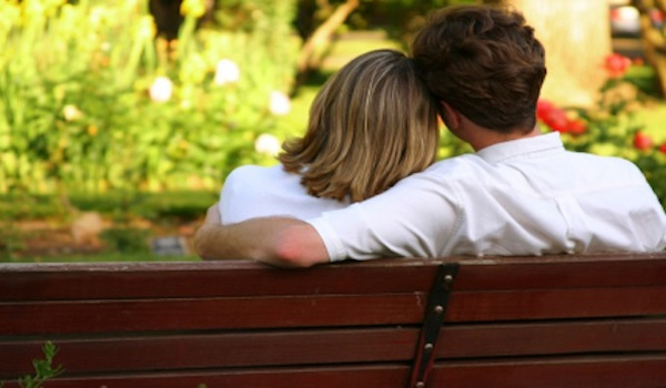Providing Security - Married couple on bench