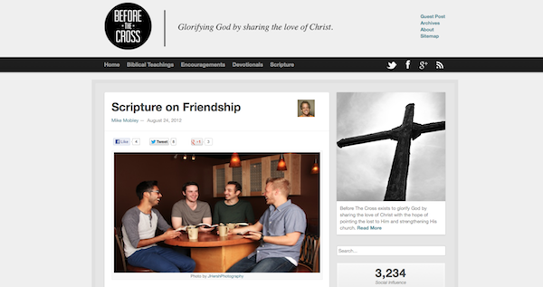 Brand New Design - Before The Cross in Browser