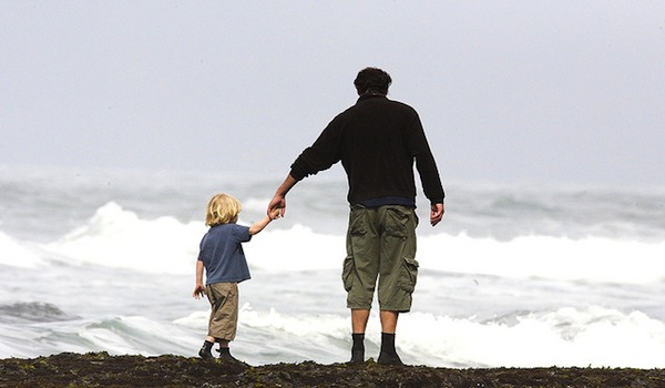 Scripture on Parenting - Dad walking with son