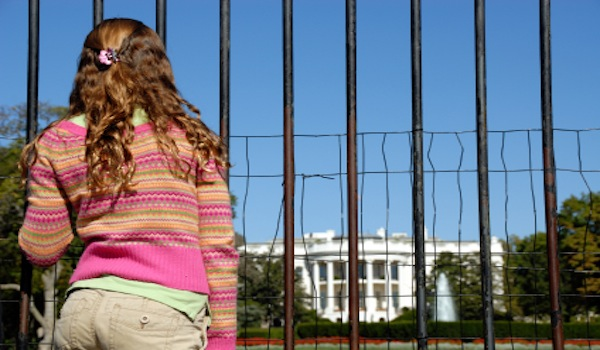 Next Generation of Leaders - Student in front of White House