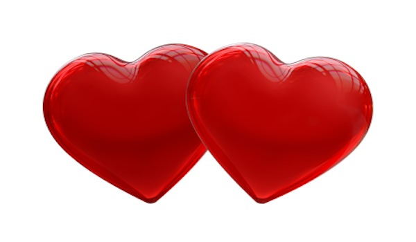 Valentines Love - Two Hearts