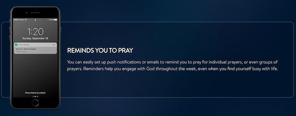 The Echo Prayer App Reminders