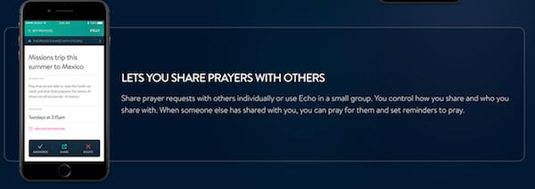 The Echo Prayer App Share Prayers