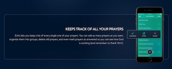 Echo Prayer App Tracking Prayers